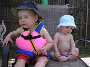 Putting both boys in the pool keeps me plenty worried...believe me.