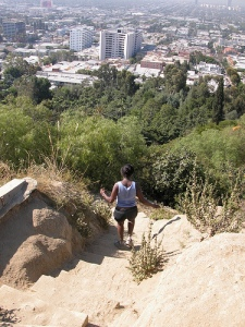 Someone hiking at Runyon
