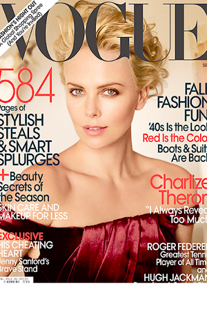 Charlize Theron graces Sept 09 cover