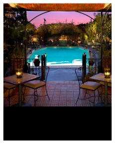 Poolside at the Hotel Figueroa